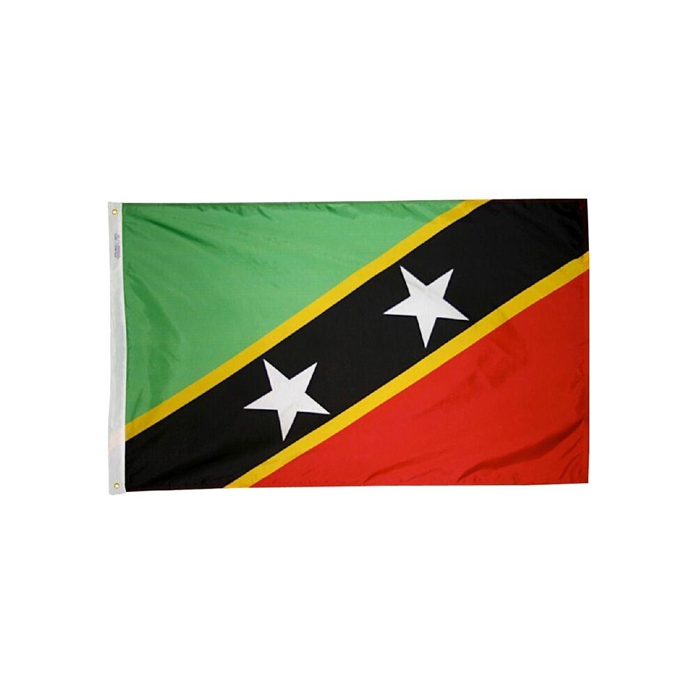 12x18 in. Saint Kitts & Nevis Nautical Flag