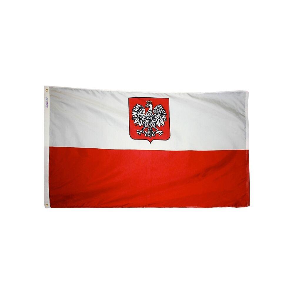 12x18 in. Poland Nautical Flag with Eagle