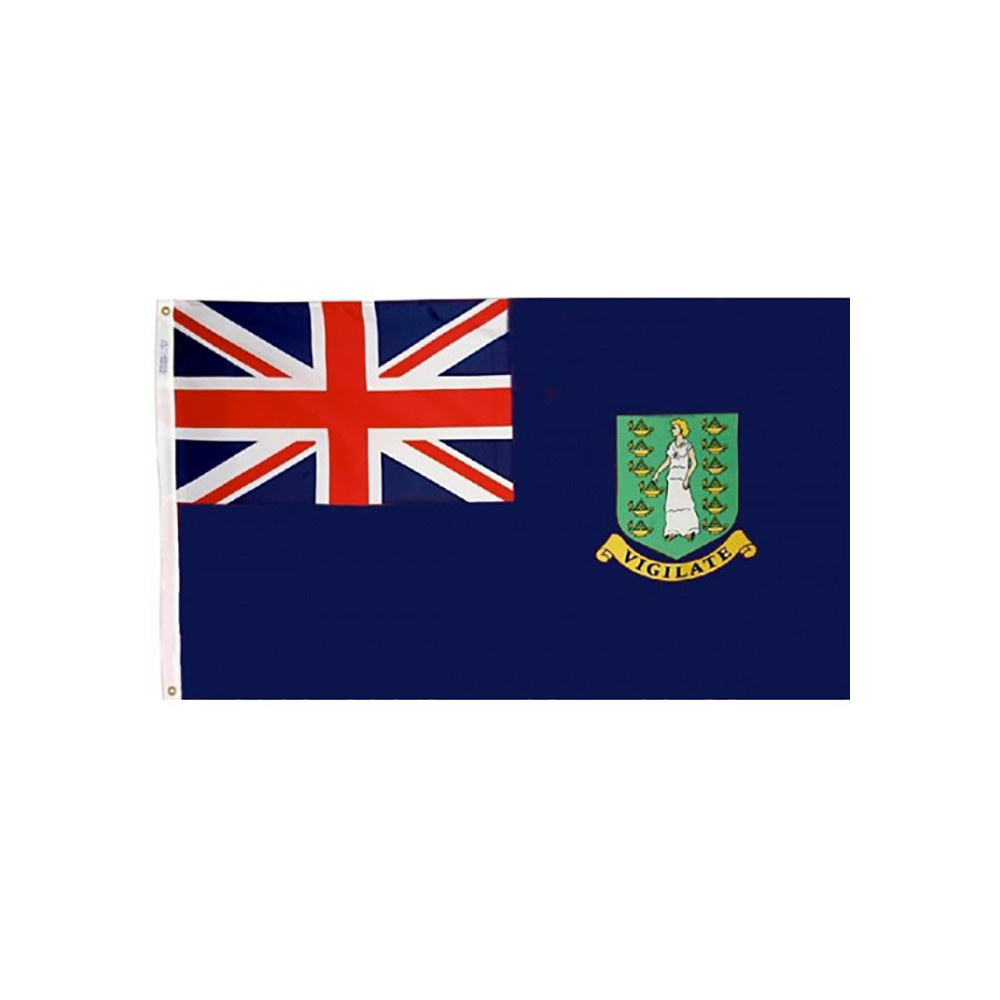 12x18 in. British Virgin Islands Nautical Flag