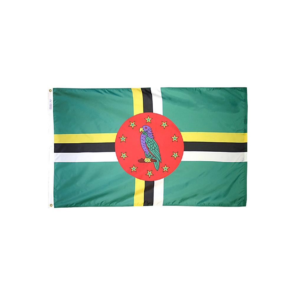 12x18 in. Dominica Nautical Flag