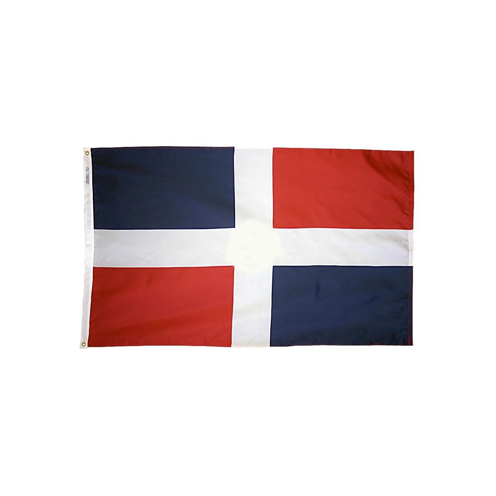12x18 in. Dominican Republic Nautical Flag - No Seal