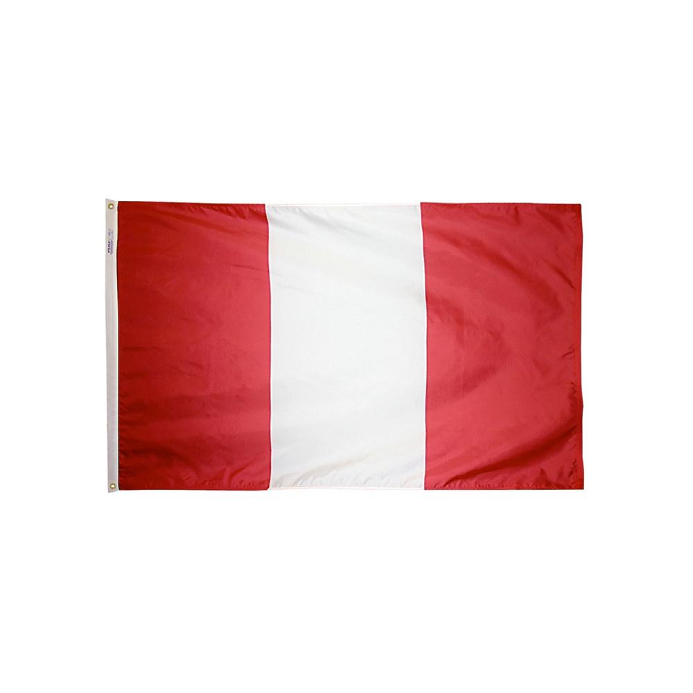 12x18 in. Peru Nautical Flag - No Seal