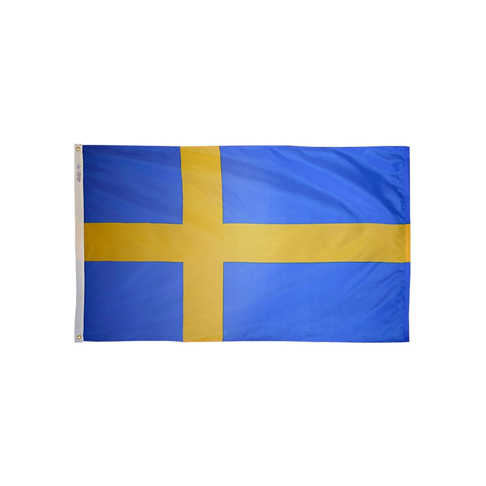 12x18 in. Sweden Nautical Flag