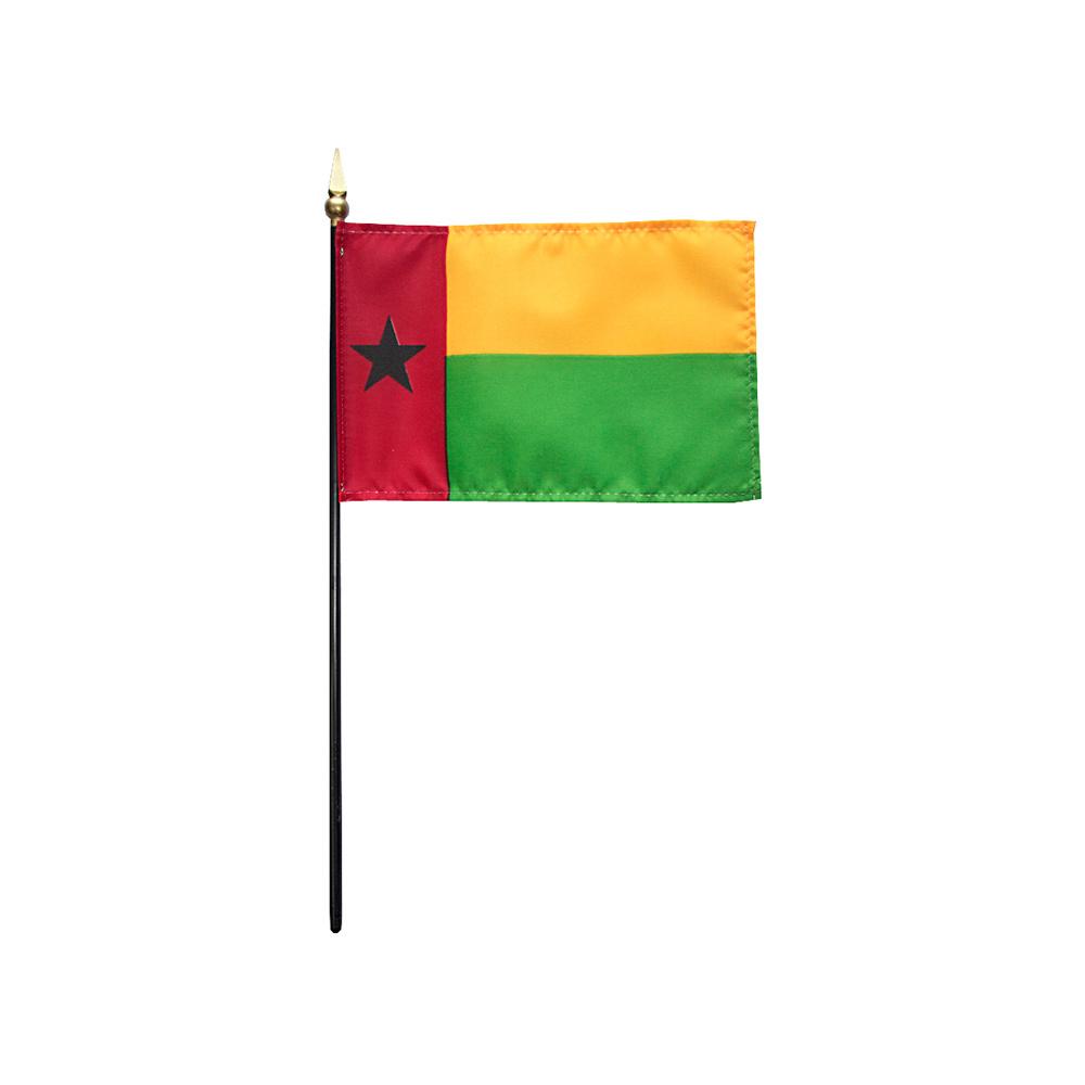 Guinea-Bissau Stick Flag 4x6 in
