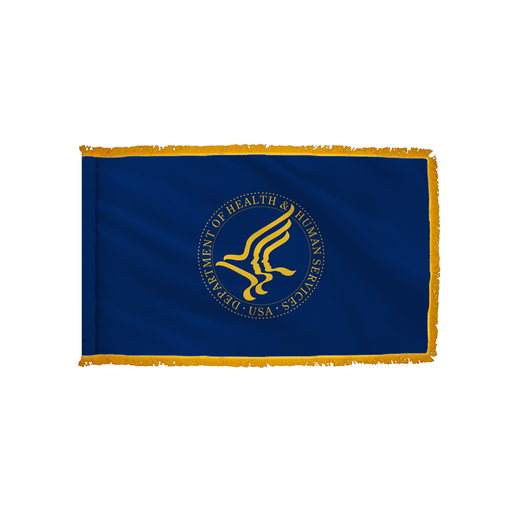 Health & Human Services Flag - Indoor/Parade with Polesleeve & Fringe