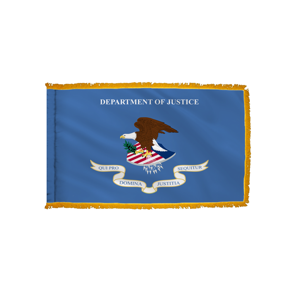 Justice Flag - Indoor/Parade with Polesleeve & Fringe