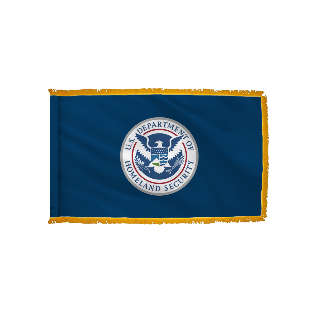 Homeland Security Flag - Indoor/Parade with Polesleeve & Fringe