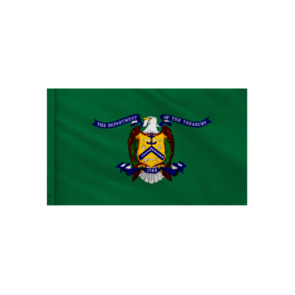 Treasury Flag - Indoor/Parade with Polesleeve
