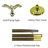 Classic 7ft. Oak Liberty Set with Flying Eagle