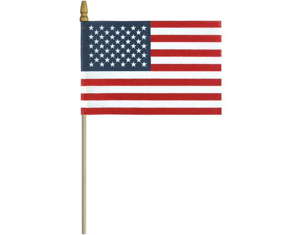 """NEW United States Army Gold Flag with 24/"""" Wooden Stick Pole"""