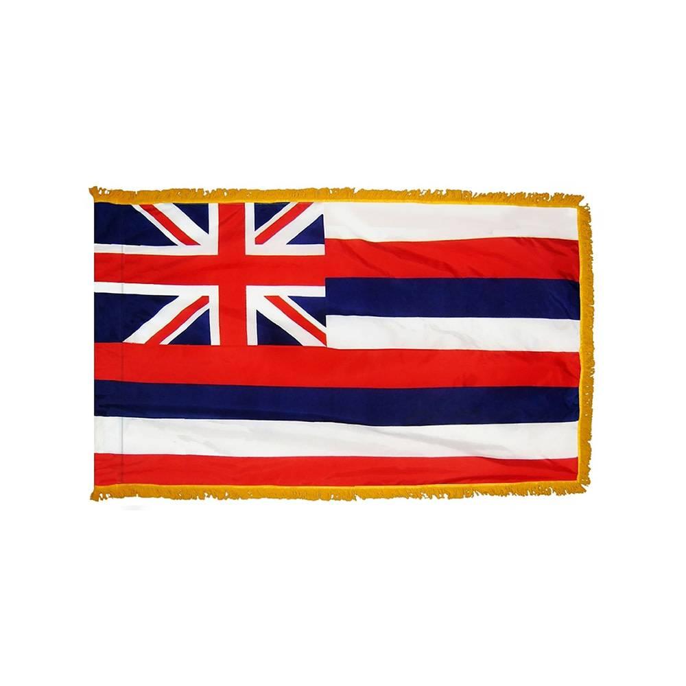Hawaii Flag with Polesleeve & Fringe