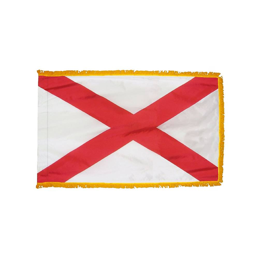 Alabama Flag with Polesleeve & Fringe