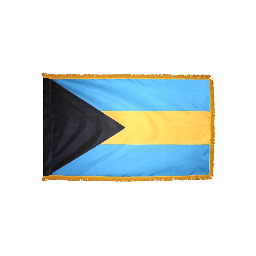 Bahamas Flag with Polesleeve & Fringe