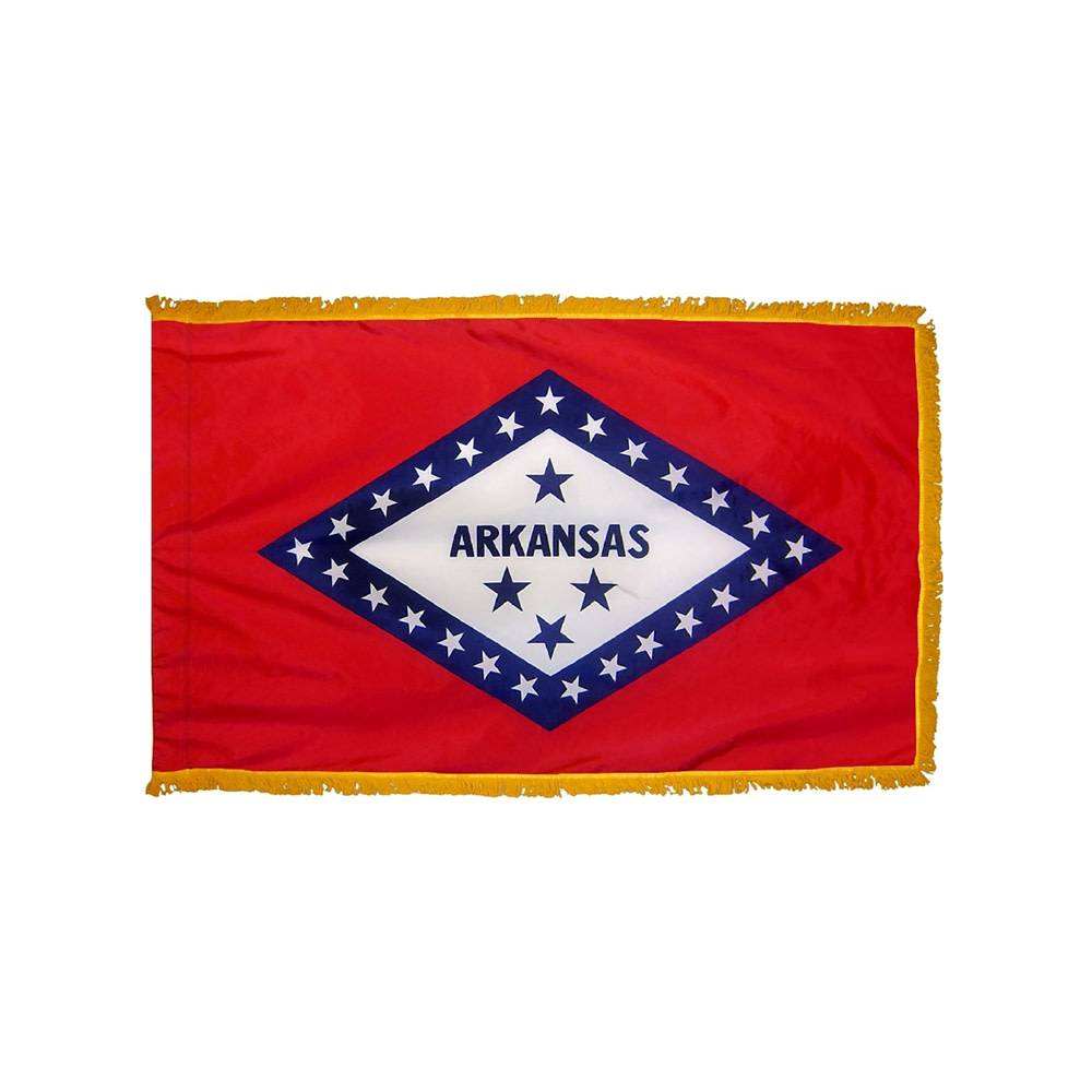 Arkansas Flag - Indoor & Parade with Fringe