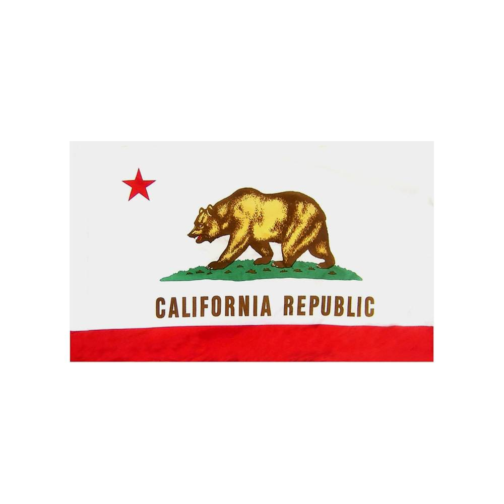 California Flag with Polesleeve
