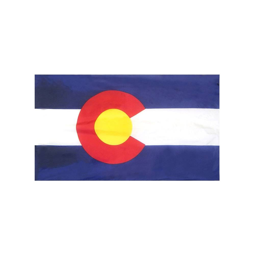 Colorado Flag with Polesleeve