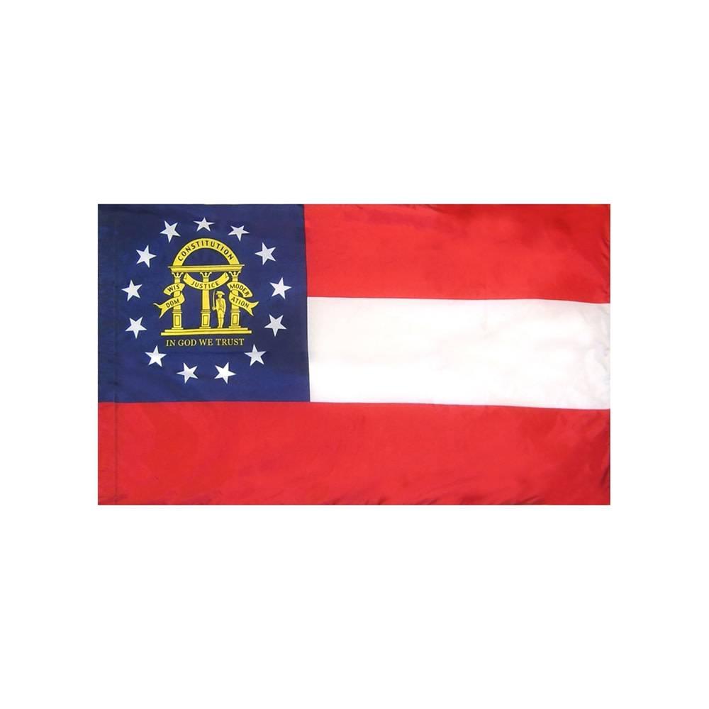 Georgia Flag with Polesleeve