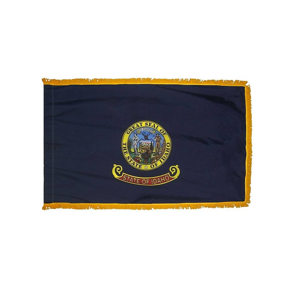 Idaho Flag with Polesleeve & Fringe
