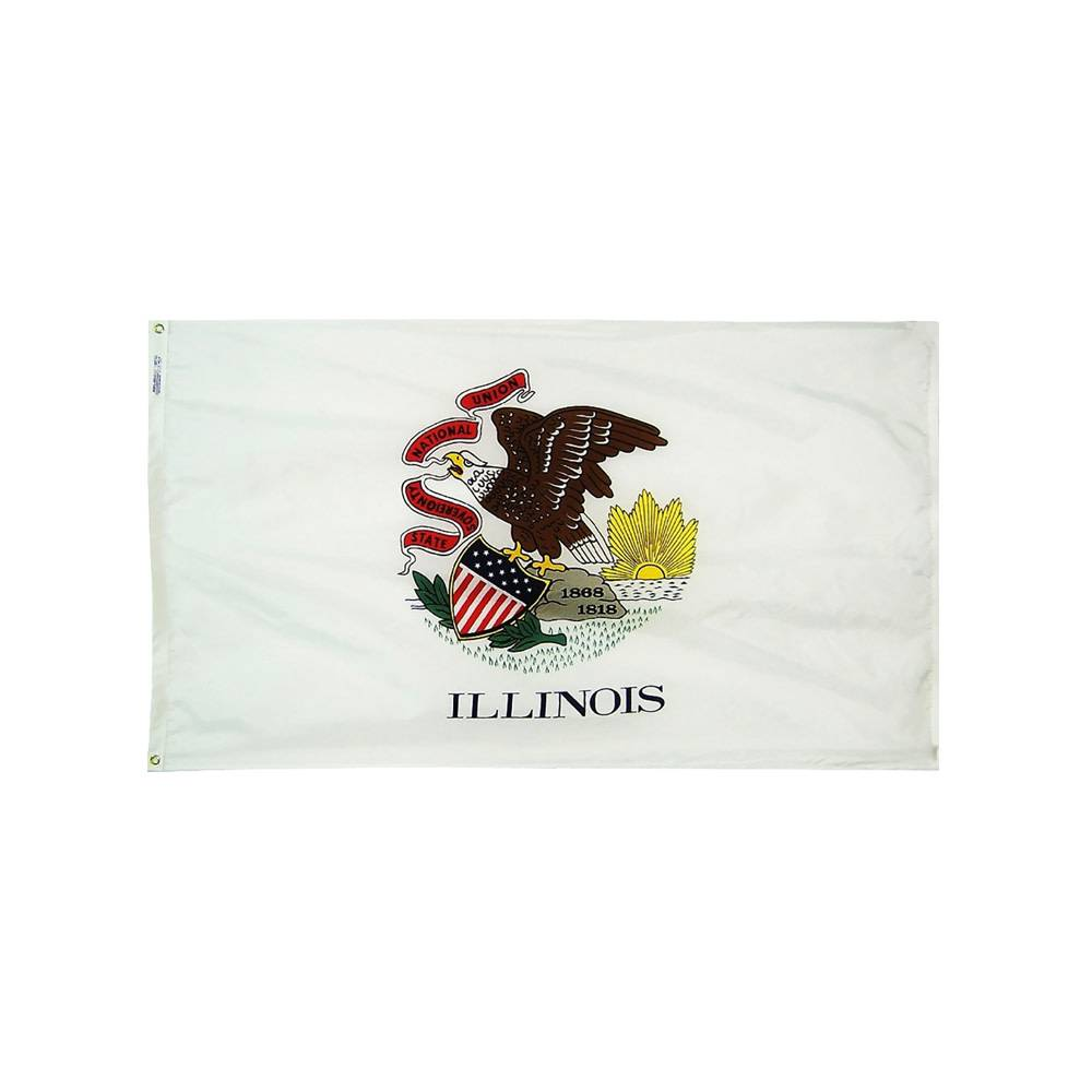 12x18 in. Illinois Nautical Flag