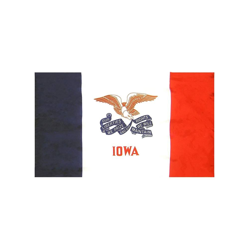 Iowa Flag with Polesleeve