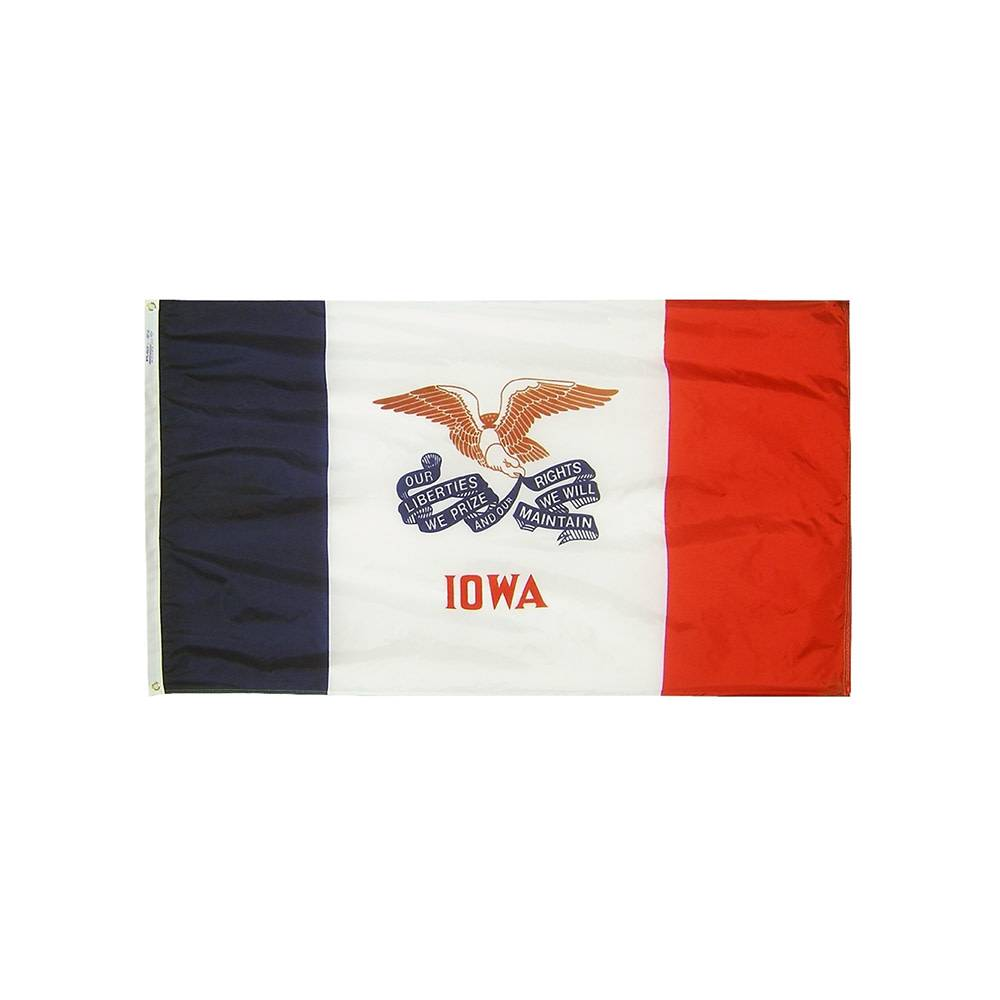 12x18 in. Iowa Nautical Flag