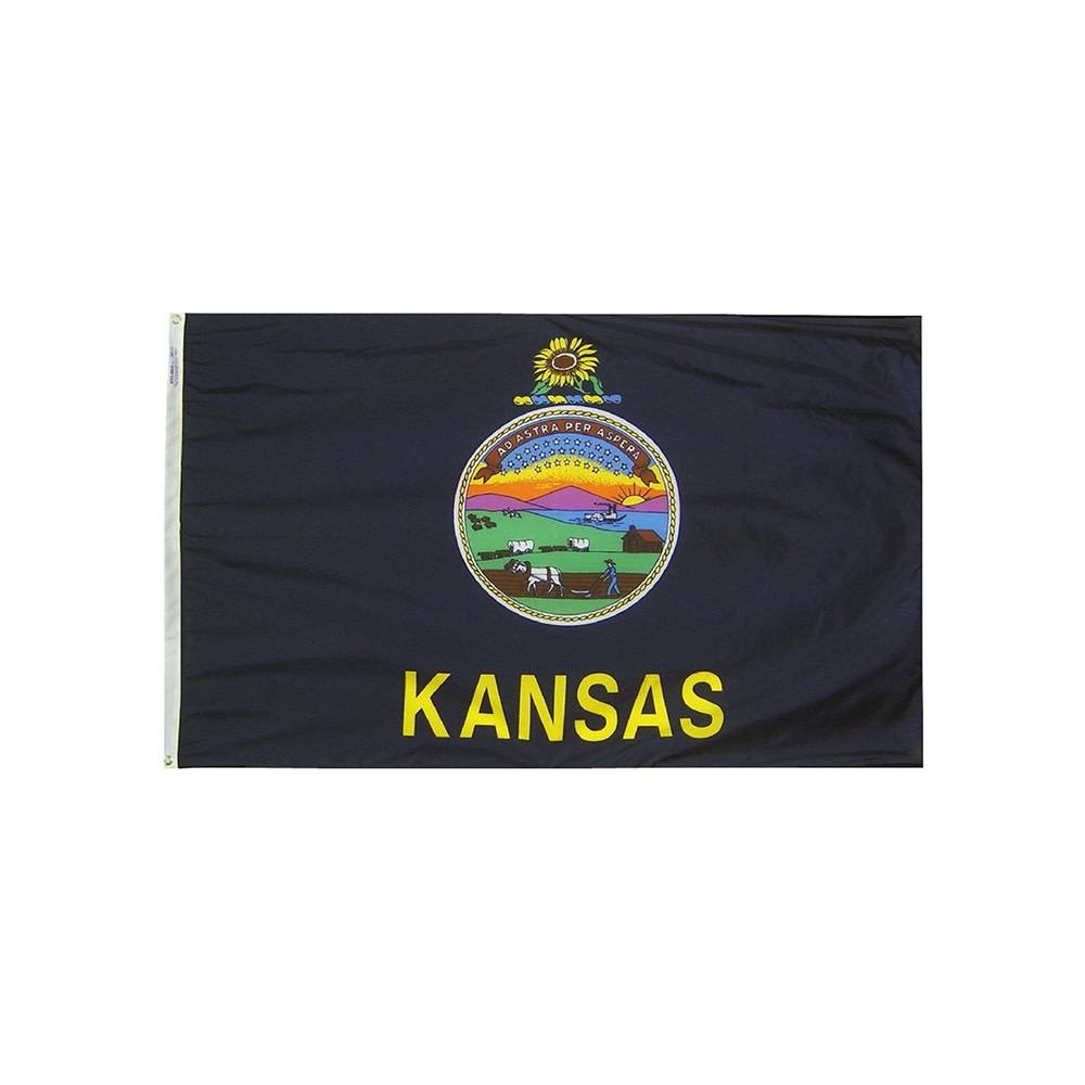 12x18 in. Kansas Nautical Flag