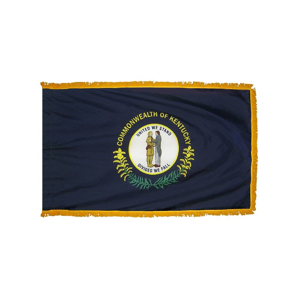 Kentucky Flag with Polesleeve & Fringe
