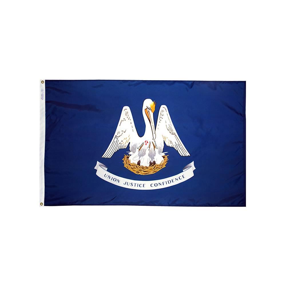 12x18 in. Louisiana Nautical Flag