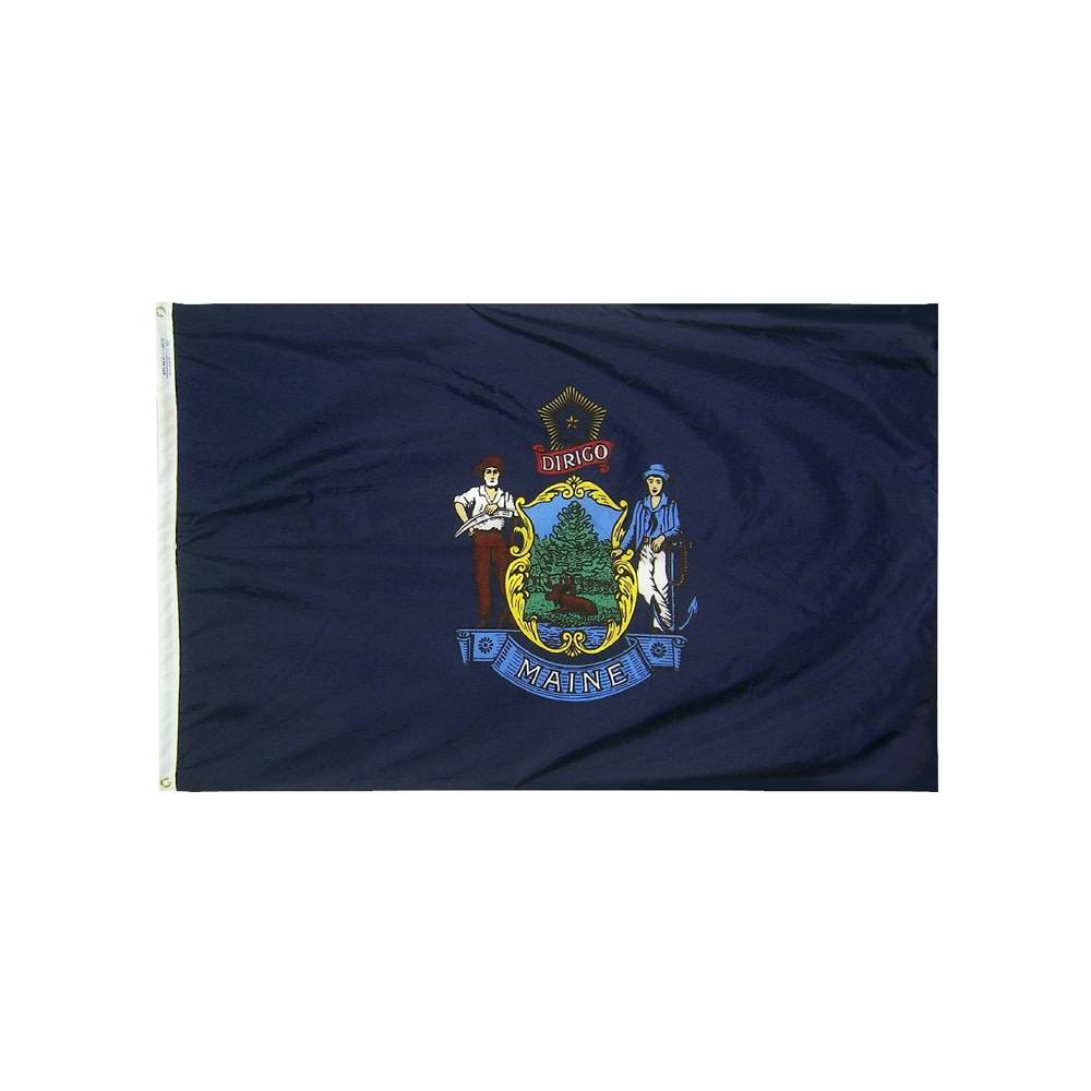 12x18 in. Maine Nautical Flag