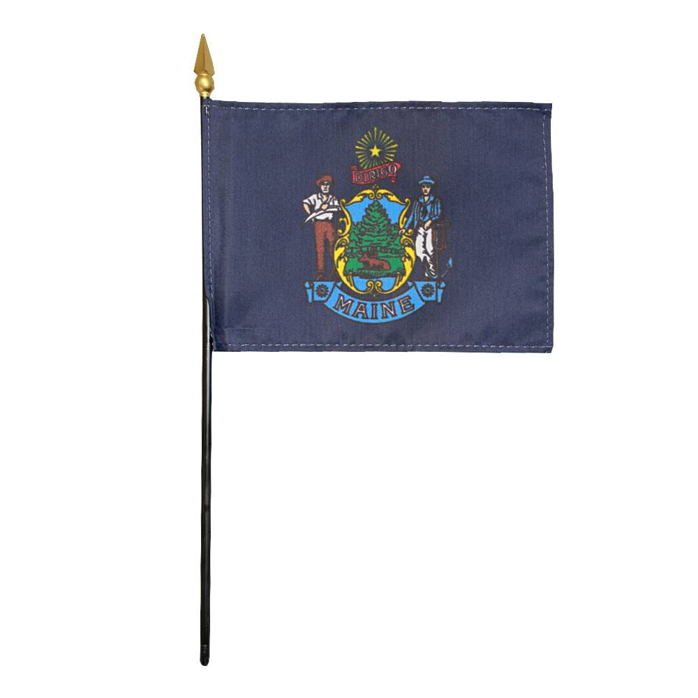 Maine Stick Flag