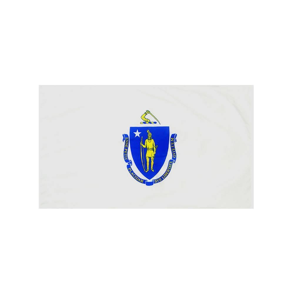 Massachusetts Flag with Polesleeve
