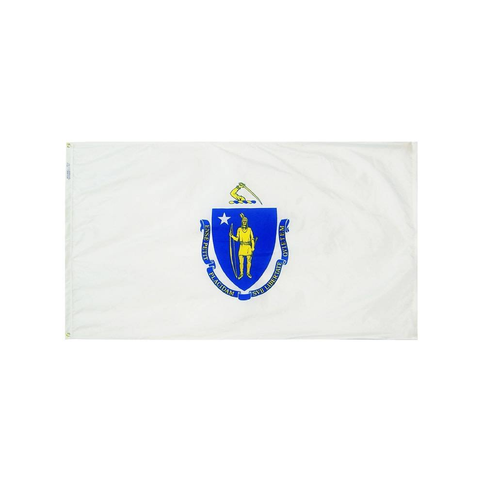 12x18 in. Massachusetts Nautical Flag