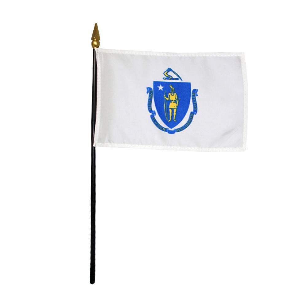 Massachusetts Stick Flag