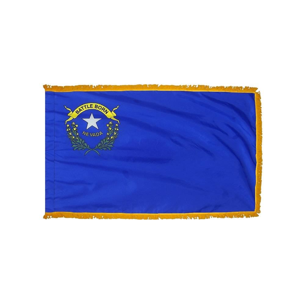 Nevada Flag with Polesleeve & Fringe