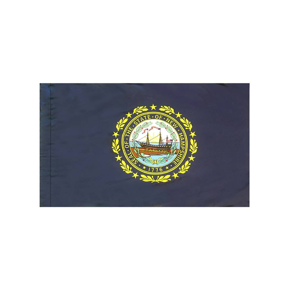 New Hampshire Flag with Polesleeve