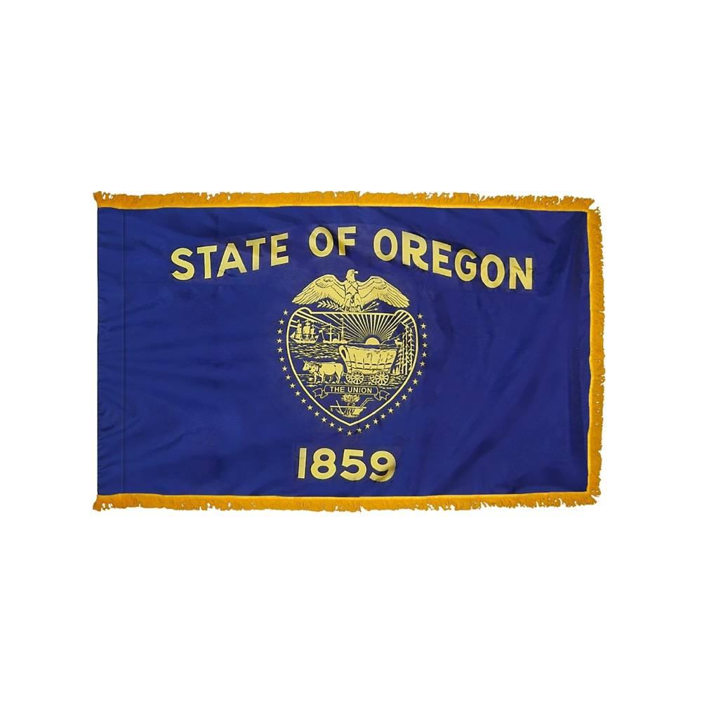 Oregon Flag with Polesleeve & Fringe