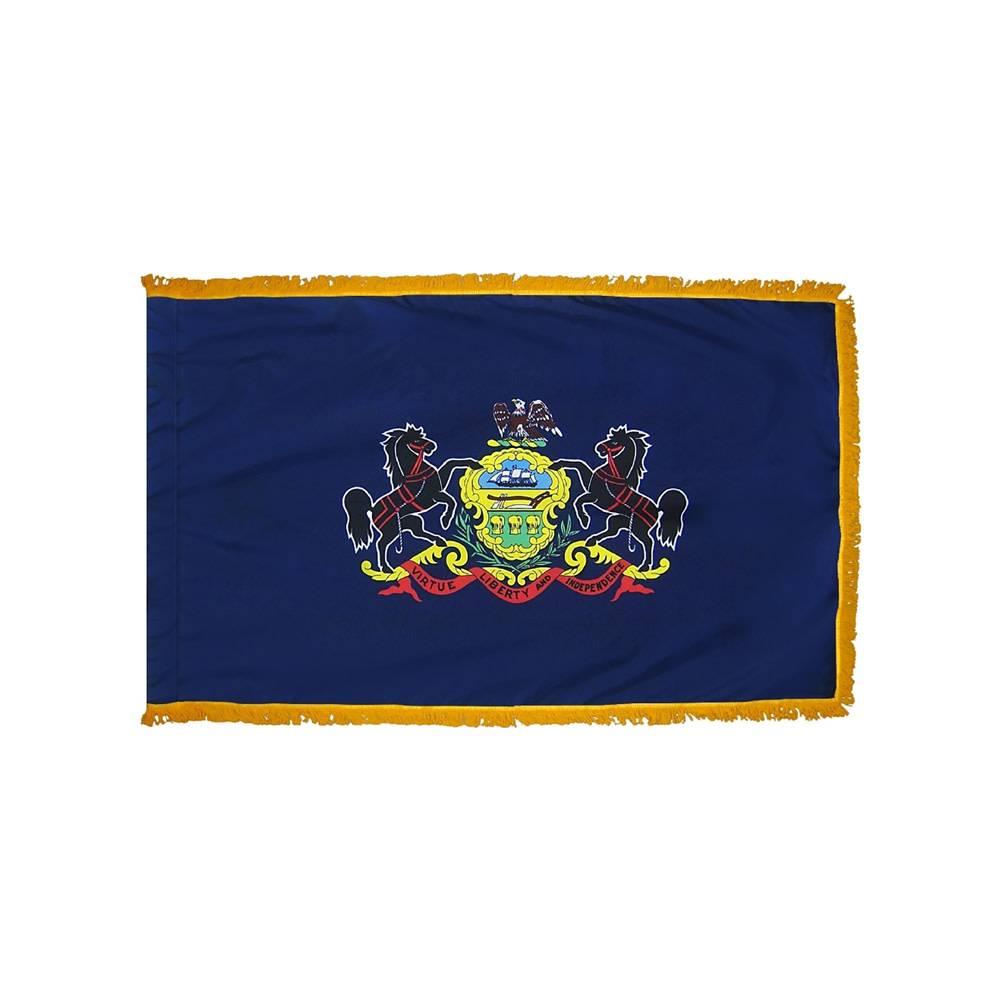 Pennsylvania Flag with Polesleeve & Fringe