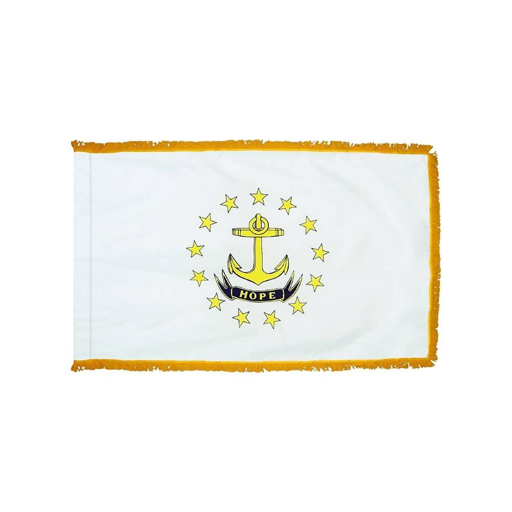 Rhode Island Flag with Polesleeve & Fringe