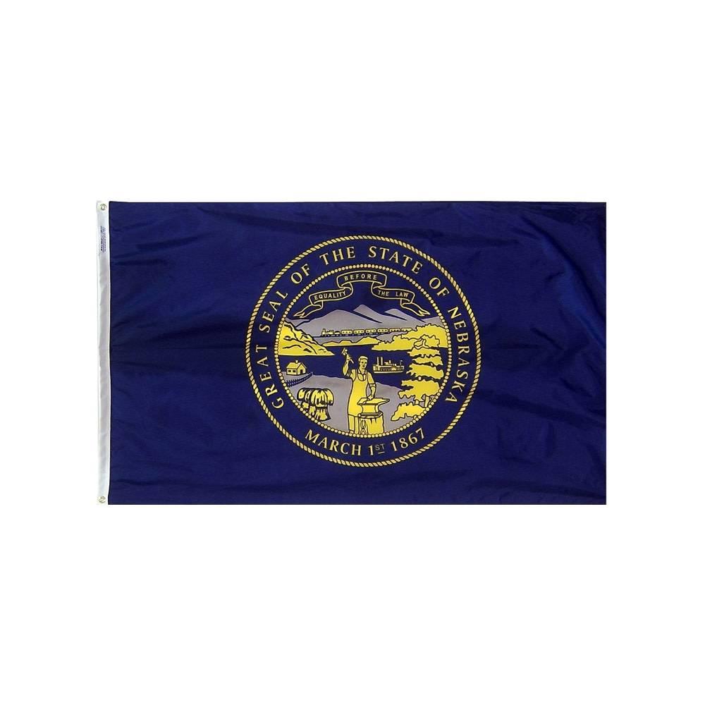 12x18 in. Nebraska Nautical Flag