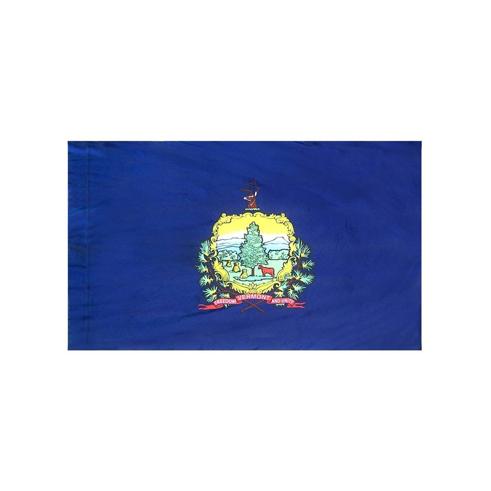 Vermont Flag with Polesleeve