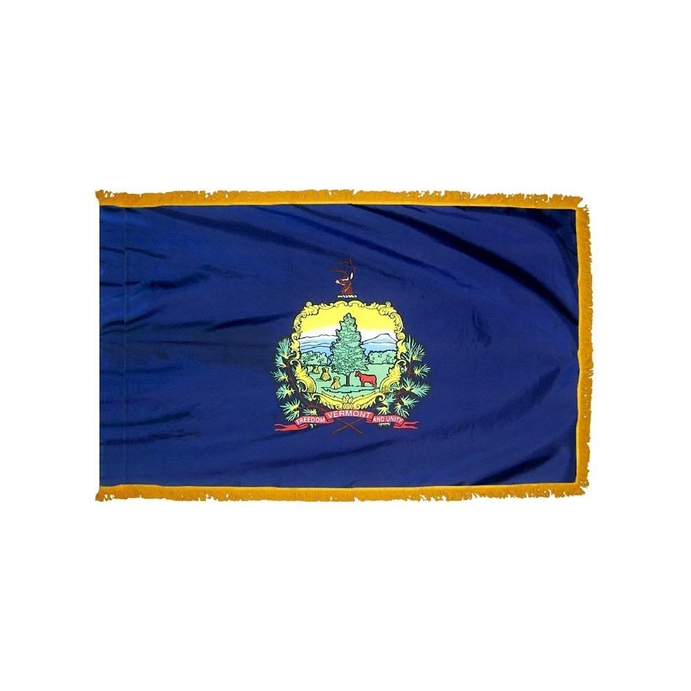 Vermont Flag with Polesleeve & Fringe