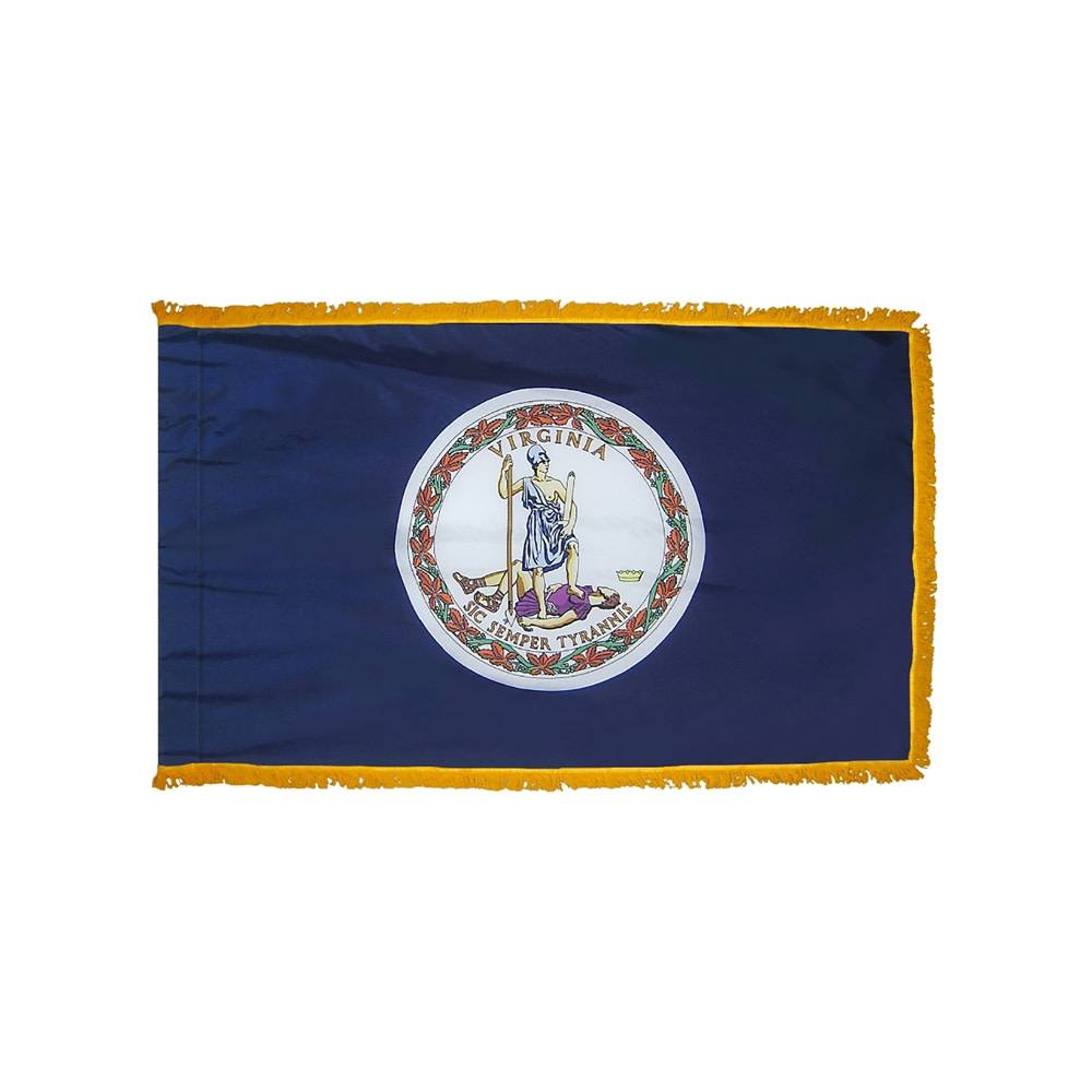 Virginia Flag with Polesleeve & Fringe