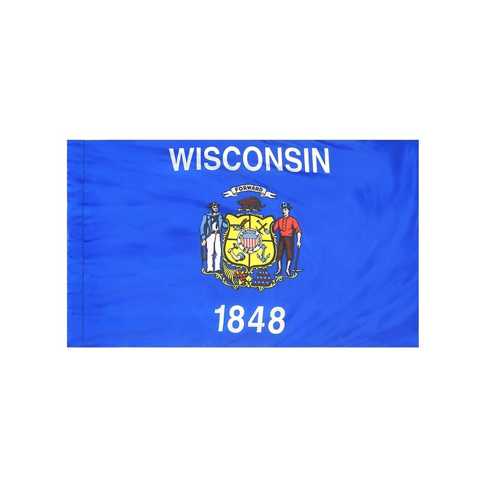 Wisconsin Flag with Polesleeve