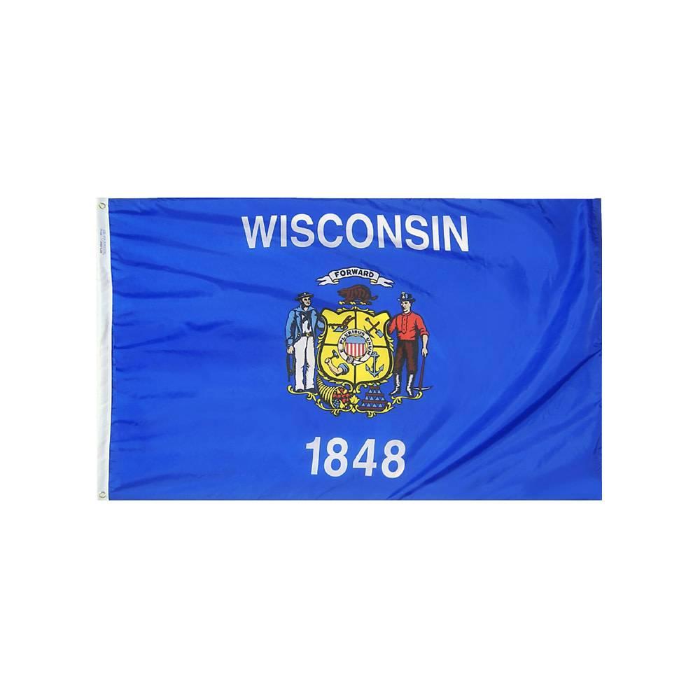 12x18 in. Wisconsin Nautical Flag