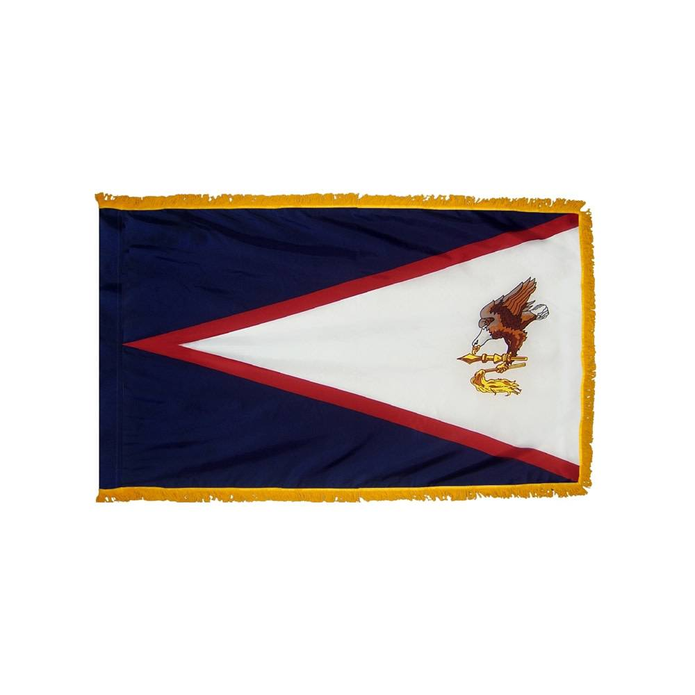 American Samoa Flag - Indoor & Parade with Fringe