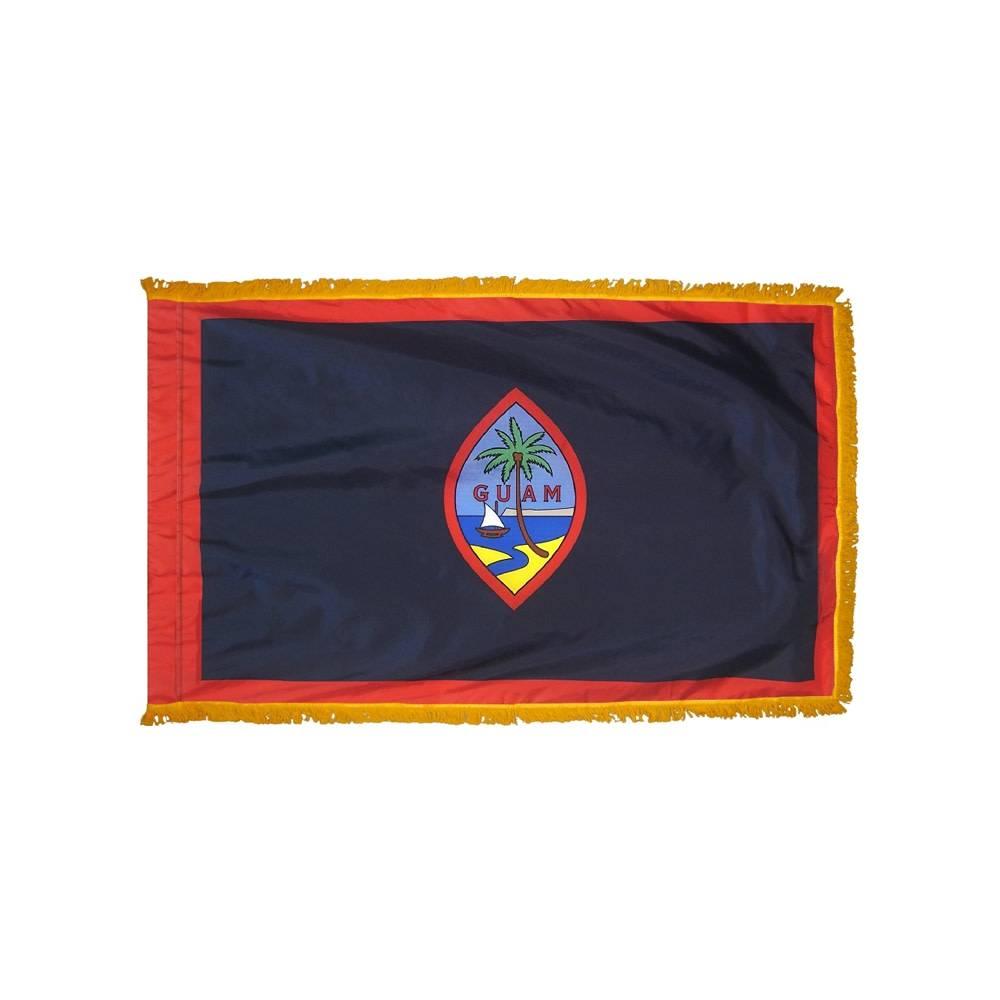 Guam Flag with Polesleeve & Fringe