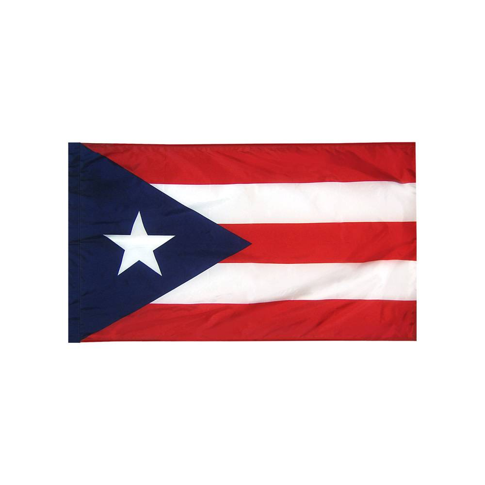 Puerto Rico Flag with Polesleeve