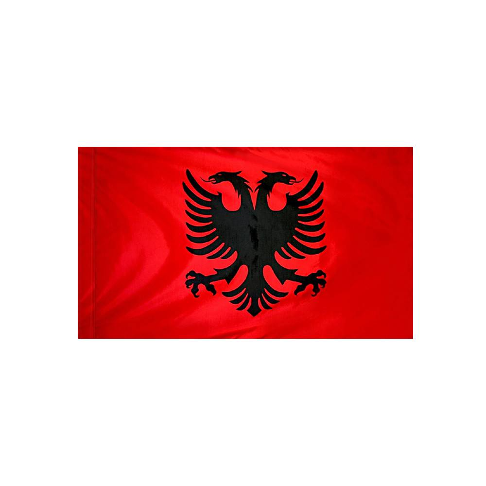 Albania Flag with Polesleeve