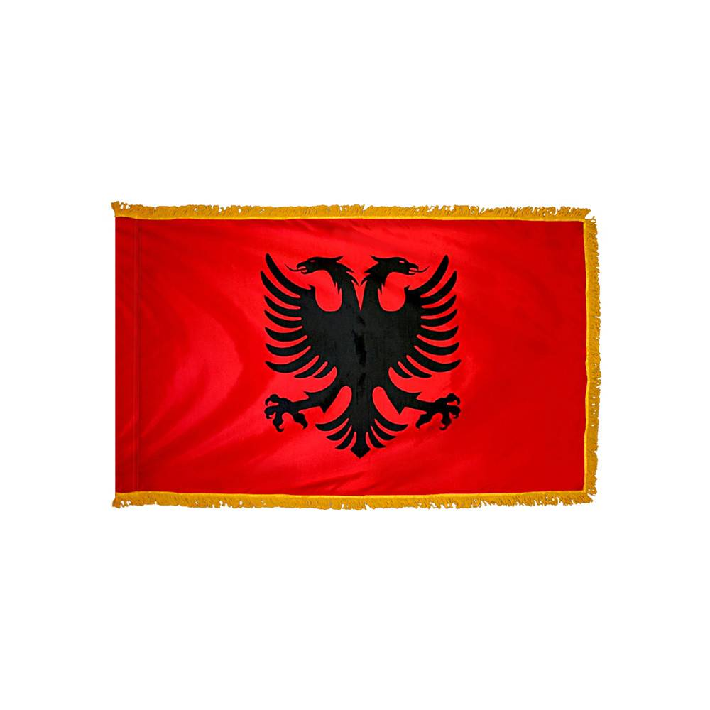 Albania Flag - Indoor & Parade with Fringe