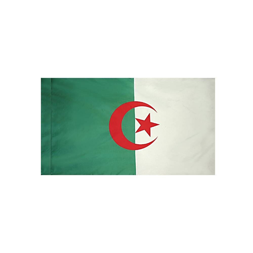 Algeria Flag with Polesleeve